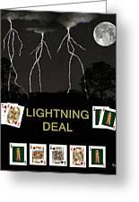 Lightning Deal  Poker Cards Greeting Card