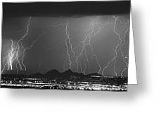 Lightning Long Exposure Greeting Card