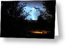 Lightning On The Distant Mountains Greeting Card
