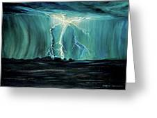 Lightning On The Prairie Greeting Card