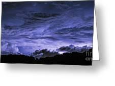 Lightning Over Pohnpei Greeting Card
