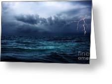 Lightning Over Water Greeting Card