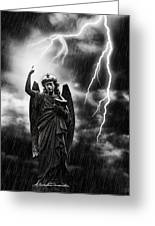 Lightning Strikes The Angel Gabriel Greeting Card by Amanda Elwell