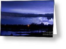 Lightning Thunderstorm July 12 2011 St Vrain Greeting Card