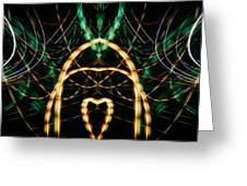 Lightpainting Panorama Print Photograph 1 Greeting Card