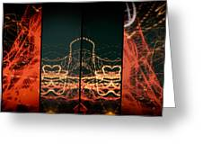 Lightpainting Quads Art Print Photograph 1 Greeting Card