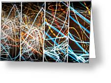 Lightpainting Quads Art Print Photograph 3 Greeting Card