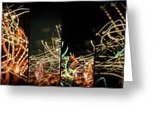 Lightpainting Quads Art Print Photograph 5 Greeting Card