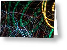 Lightpainting Single Wall Art Print Photograph 1 Greeting Card