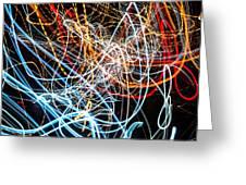 Lightpainting Single Wall Art Print Photograph 9 Greeting Card