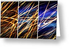 Lightpainting Triptych Wall Art Print Photograph 6 Greeting Card
