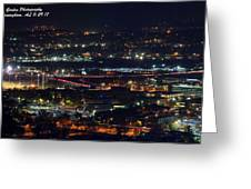Lights Across Birmingham Greeting Card
