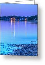 Lights Across The Bay Greeting Card