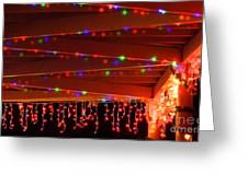 Lights At Christmas Greeting Card