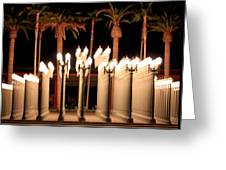 Lights At The Lacma La County Museum Of Art 0763 Greeting Card