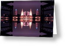 Lights Buildings And Bridges Greeting Card