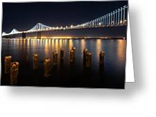 Lights By The Bay Greeting Card