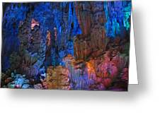 Lights In A Cave Greeting Card