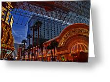 Lights In Down Town Las Vegas Greeting Card