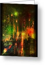 Lights In The City Greeting Card