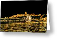Lights Of Budapest Greeting Card