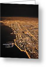 Lights Of Chicago Burn Brightly Greeting Card