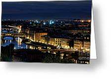Lights Of Florence Greeting Card
