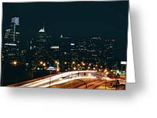 Lights Of Philadelphia Greeting Card
