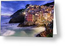 Lights Of Riomaggiore Greeting Card