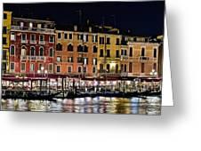 Lights Of Venice Greeting Card