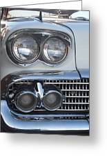 Lights On A '58 Chevy Greeting Card