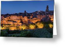 Lights On Pitigliano Greeting Card