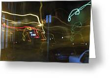 Lights That Attack Cars Two Greeting Card