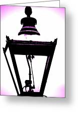 Lightshade In A Hint Of Purple Greeting Card