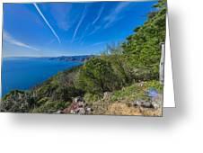 Liguria Paradise Gulf Panorama Greeting Card