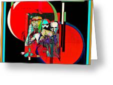 Like Burrow In It's Abstract Burroughs The Word On It's Side Greeting Card