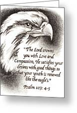 Like The Eagle Greeting Card