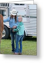 Lil' Cowgirls Greeting Card