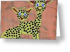 Lil Giraffes Greeting Card