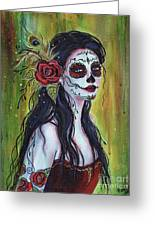 Lila day of the dead art painting by renee lavoie lila day of the dead art greeting card m4hsunfo