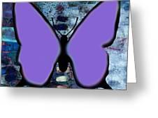 Lila Papillon Greeting Card
