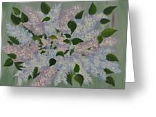 Lilac Flowers Expressing Harmony Greeting Card