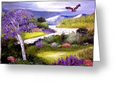 Lilac Valley Greeting Card