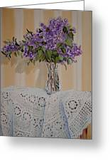 Lilacs And Lace Greeting Card