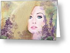 Lilacs And Lavender Greeting Card