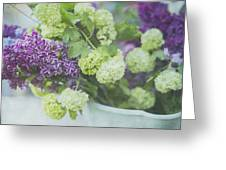 Lilacs And Snowballs Greeting Card