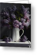 Lilacs/haviland Water Pitcher Greeting Card
