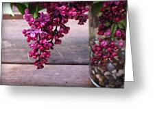 Lilacs In A Vase Greeting Card