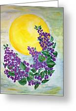 Lilacs In The Midnight Sun Greeting Card