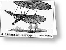 Lilienthal Glider, 1895 Greeting Card